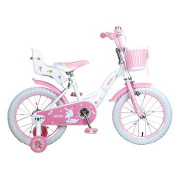 寶貝樂精選 艾比鹿腳踏車16吋充氣胎腳踏車-粉紅