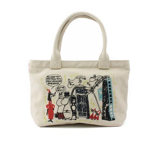 嚕嚕米 MOOMIN 刺繡 帆布 提袋 便當袋 手提袋 幕敏家族