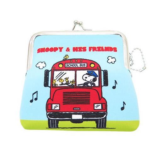 史努比 Snoopy 防震棉 中型 珠扣包 零錢包 卡片包 收納包 PEANUTS