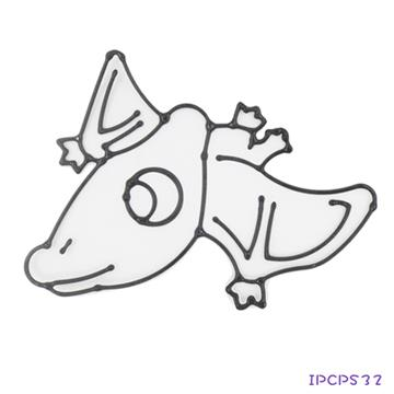 【愛玩色創意館】兒童無毒彩繪玻璃貼- 小張圖卡 - 翼手龍 ipcpS3 台灣製