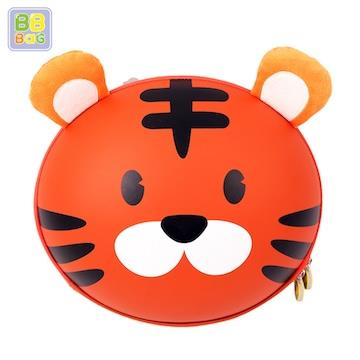 【韓國 BB BAG】 防走失可愛動物後背包書包(附收納袋)-老虎