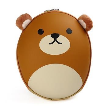 【韓國 BB BAG】 防走失可愛動物後背包書包(附收納袋)-小熊