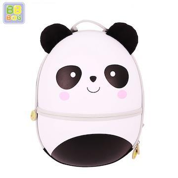 【韓國 BB BAG】 防走失可愛動物後背包書包(附收納袋)-熊貓