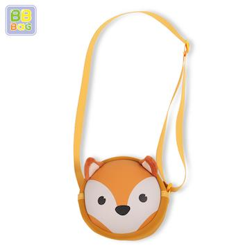 【韓國 BB BAG】可愛卡通動物斜背包(附收納袋)-狐狸