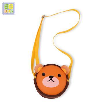 【韓國 BB BAG】可愛卡通動物斜背包(附收納袋)-熊熊