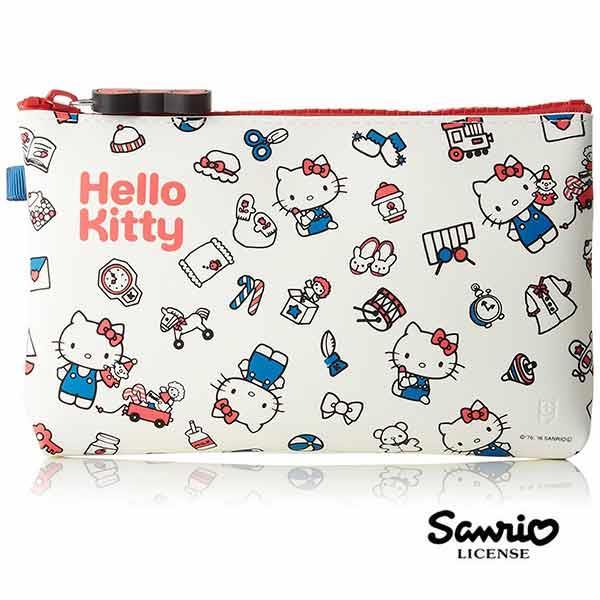 凱蒂貓 HelloKitty 矽膠 防潑水 筆袋 鉛筆盒 化妝包 收納包 三麗鷗 Sanrio