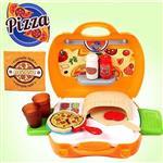 【17mall】多功能家家酒兒童玩具-仿真手提收納美味PIZZA比薩派對組