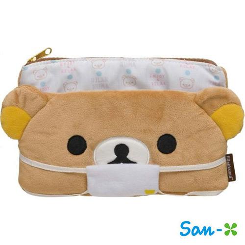 San-X 拉拉熊 口罩收納包 化妝包 面紙包 懶懶熊 Rilakkuma