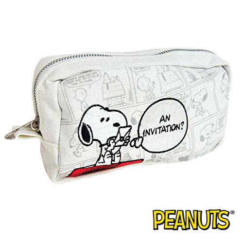 史努比 Snoopy 帆布 筆袋 鉛筆盒 收納包 PEANUTS