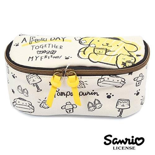 布丁狗 Pom Pom Purin 三麗鷗人物 可展開 化妝包 收納包 Sanrio