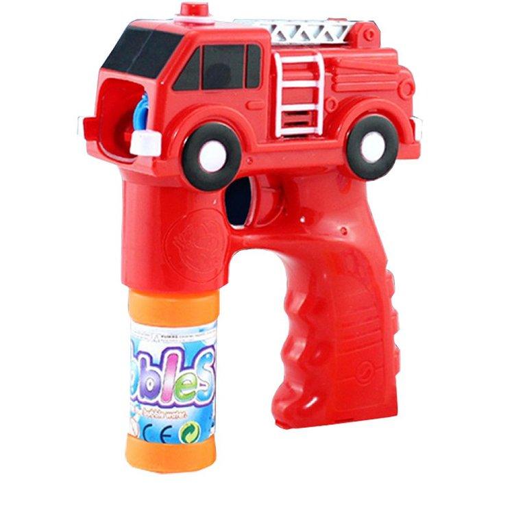 【17mall】兒童玩具電動聲光音樂消防車泡泡槍附贈泡泡水