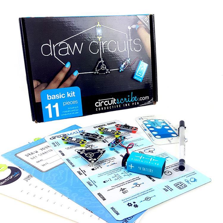 Circuit Scribe 手繪電路筆創客套件-基礎版