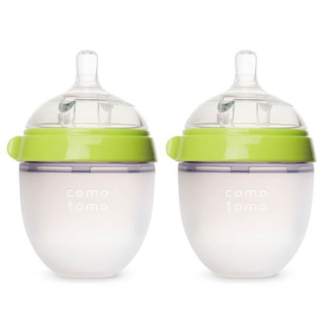 美國comotomo 矽膠奶瓶二入150ML-綠