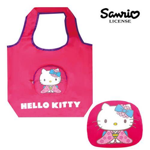 凱蒂貓 Hello kitty 拉鍊 摺疊 購物袋 環保袋 手提袋 三麗鷗 Sanrio