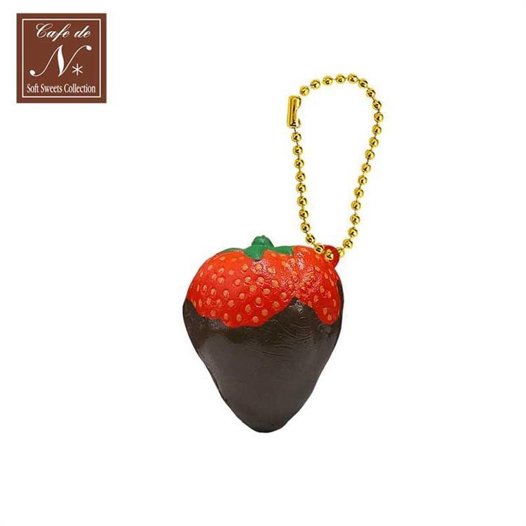 草莓 捏捏吊飾 吊飾 捏捏樂 軟軟 cafe de n squishy 捏捏