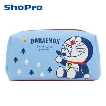 哆啦a夢 Doraemon 皮革 化妝包 收納包 筆袋 鉛筆盒 防潑水 小叮噹