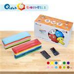 Q-doh 有機矽膠黏土 12色黏土量販盒【附贈黑色黏土5g 2片】