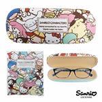 三麗鷗人物 硬殼 眼鏡盒 附擦拭布 凱蒂貓 美樂蒂 大耳狗 酷企鵝 雙子星 Sanrio