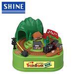 TRAIN BANK 2番線 蒸汽火車 火車存錢筒 存錢筒 電動存錢筒 玩具 小費箱 SHINE