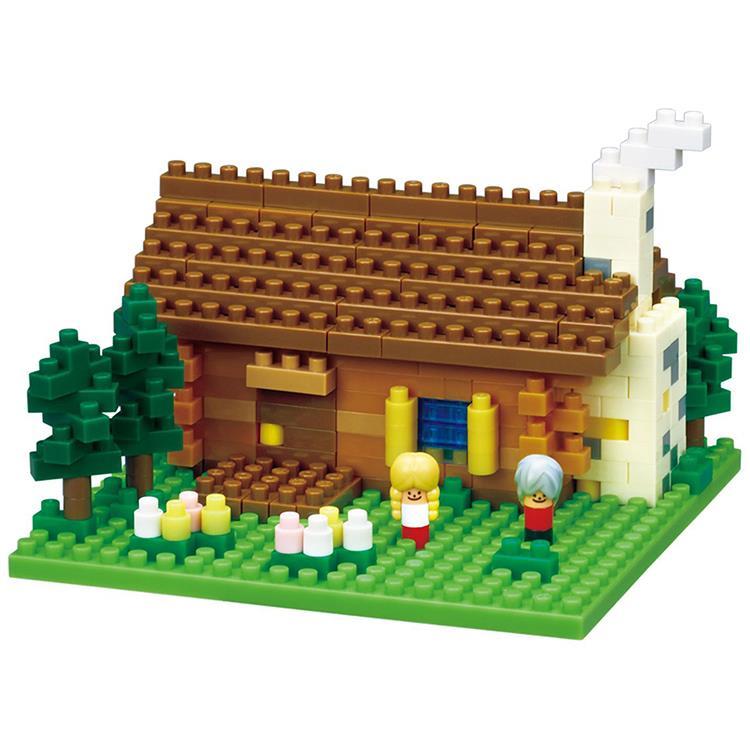 《Nano Block 迷你積木》【世界主題建築系列】NBH-151 瑞士小木屋