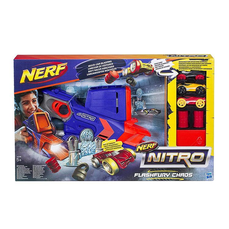 《NERF 樂活打擊》NERF NITRO 極限射速賽車豪華發射組