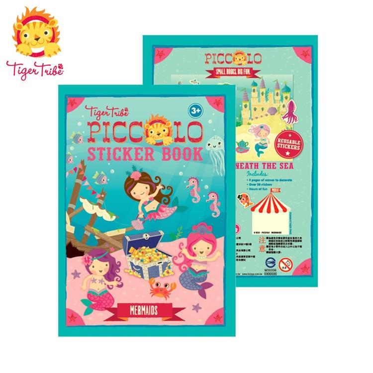 【虎兒寶】TIGER TRIBE  遊戲貼紙口袋書 - 可愛美人魚