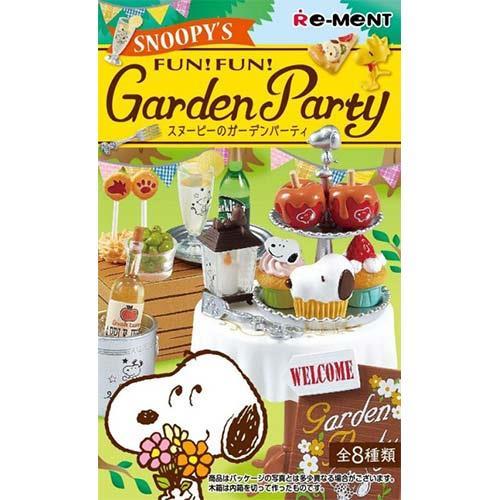 盒裝8款 史努比的花園派對 史努比 Snoopy 花園派對 盒玩 擺飾 Re-ment