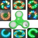 【金昱玩具】雷射炫光指尖陀螺-綠色-十八個圖案變化 按鍵開關 全新特殊開模 台灣獨家銷售