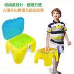 【17mall】二合一多功能家家酒玩具-沙灘椅/收納椅/遊戲椅/玩沙