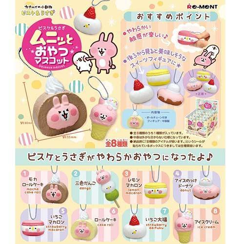 盒裝8款 卡娜赫拉 捏捏甜點吊飾 盒玩 擺飾 吊飾 兔兔&p助 Kanahei Re-ment