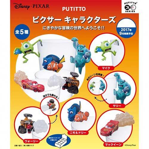 整盒8入 迪士尼 皮克斯角色 杯緣子 盒玩 擺飾 杯緣裝飾 PUTITTO Disney PIXAR