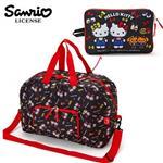 凱蒂貓 Hello Kitty ACTION 折疊 行李袋 旅行袋 肩背袋 超大容量 防潑水