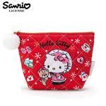 凱蒂貓 菱格紋 化妝包 收納包 Hello Kitty 三麗鷗 Sanrio