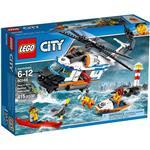 樂高積木 LEGO《 LT60166 》CITY 城市系列 - 海岸巡防重型救援直升機