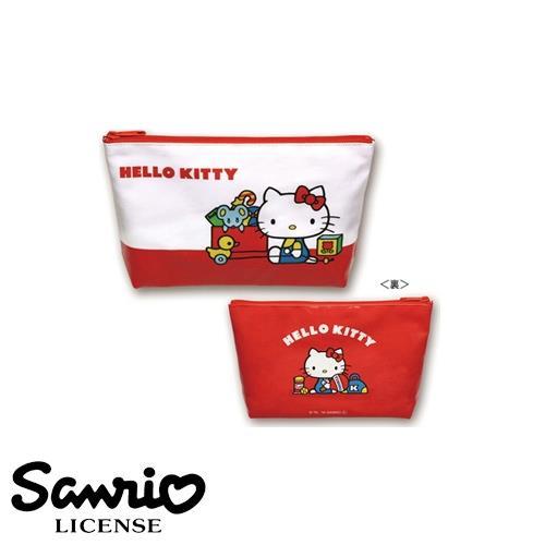 凱蒂貓 防潑水 化妝包 鉛筆盒 筆袋 Hello Kitty 日本製 三麗鷗 人物系列