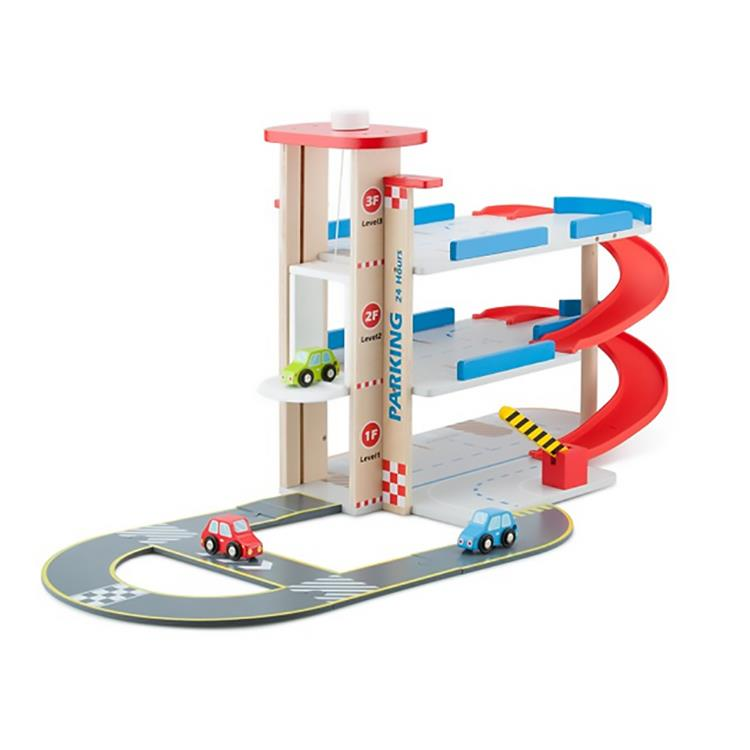 《 荷蘭 New Classic Toys 》木製立體停車場玩具