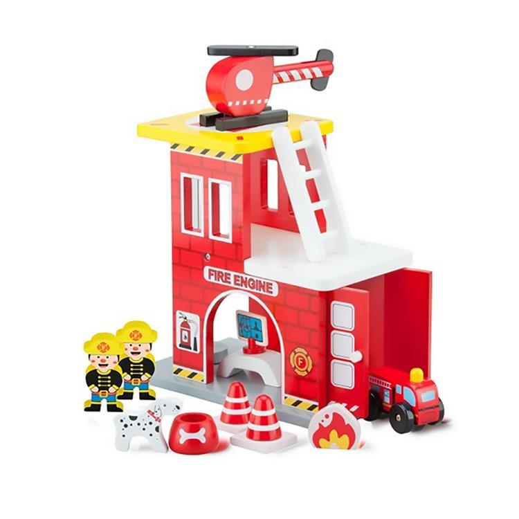 《 荷蘭 New Classic Toys 》小英雄消防署木製玩具
