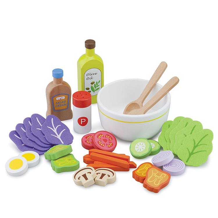 《 荷蘭 New Classic Toys 》木製廚具 - 蔬食沙拉組合