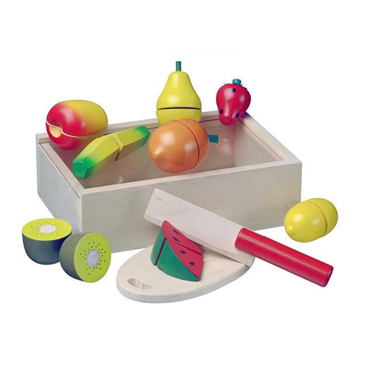 《 荷蘭 New Classic Toys 》水果總匯拼盤切切樂