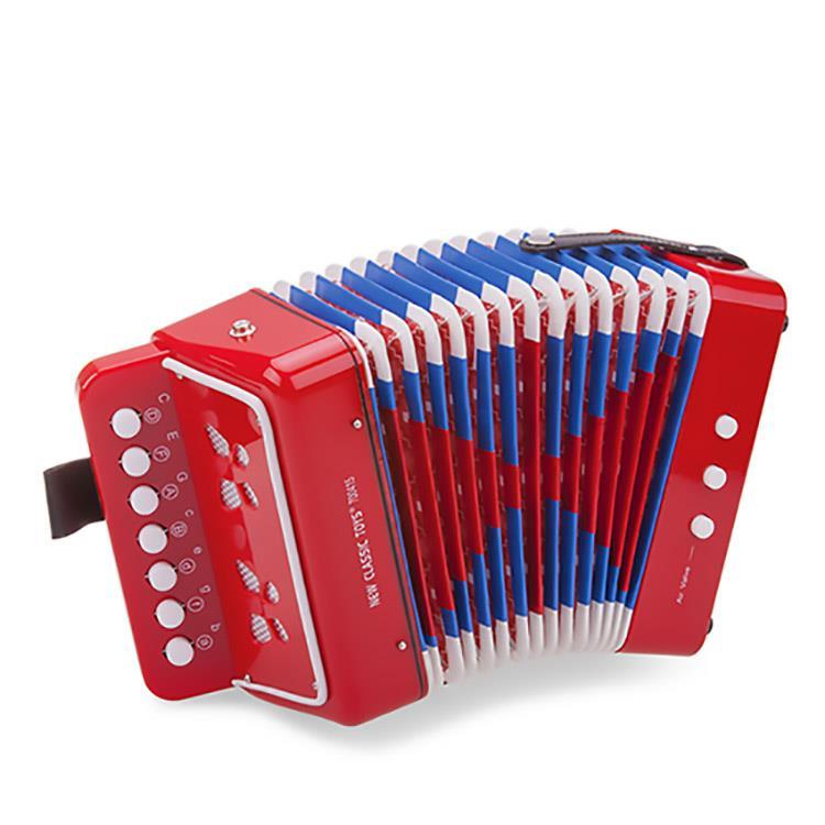 《 荷蘭 New Classic Toys 》幼兒手風琴玩具 ( 活力紅 )