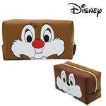 奇奇蒂蒂 皮革 筆袋 鉛筆盒 化妝包 迪士尼 Disney