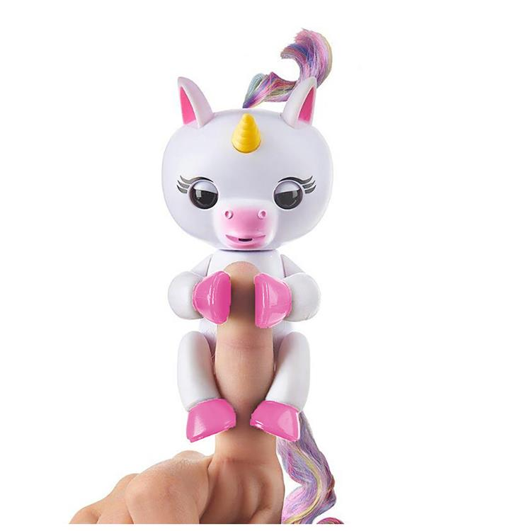 (出清)【 Fingerlings 】互動寵物猴 - 手指獨角獸-白色  正版