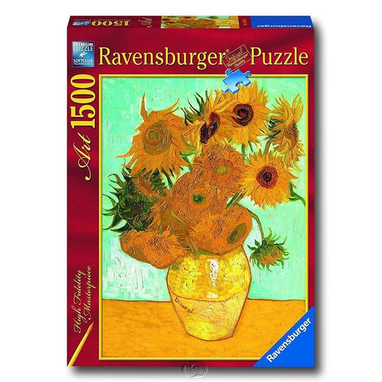 【德國Ravensburger拼圖】梵谷:向日葵-名畫系列拼圖-1500片