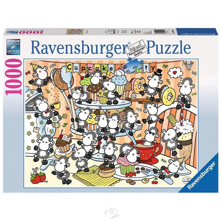 【德國Ravensburger拼圖】綿羊世界:杯子蛋糕-1000片