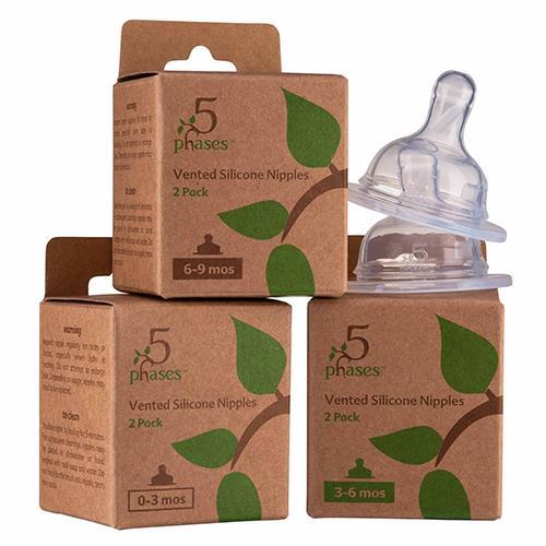 菲斯成長5階段防脹氣安心奶嘴(矽膠奶嘴2入/盒,共1盒)