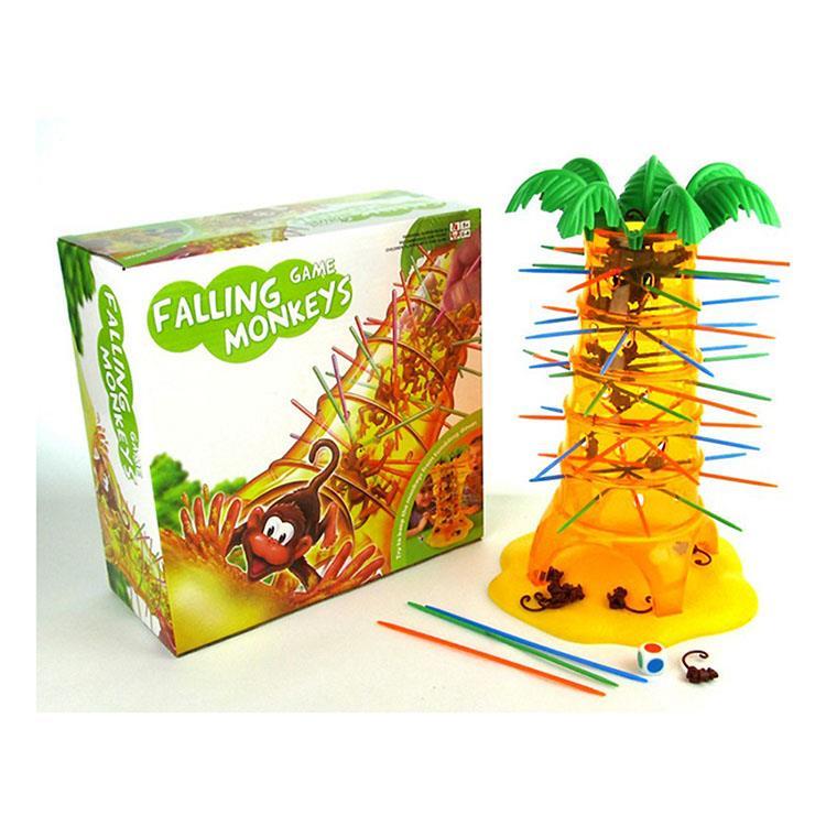 【17mall】翻斗猴子抽籤兒童益智桌遊遊戲-翻滾吧猴子(綠白盒)