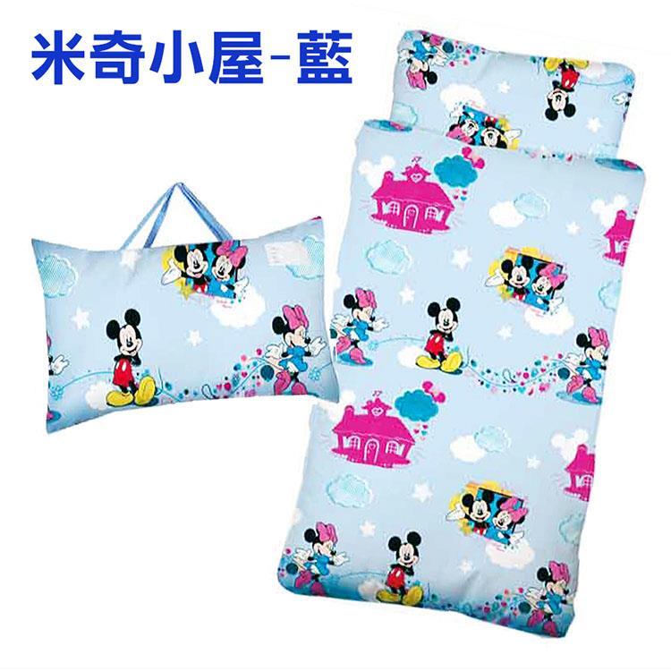 【17mall】Disney迪士尼米奇小屋兒童睡袋-藍