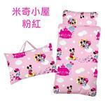 【17mall】Disney迪士尼米奇小屋兒童睡袋-粉紅