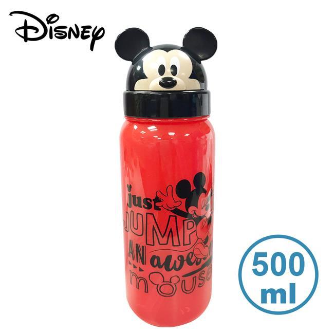 米奇 翻蓋水壺 500ml 吸管水壺 水壺 附提繩 Mickey 迪士尼 Disney