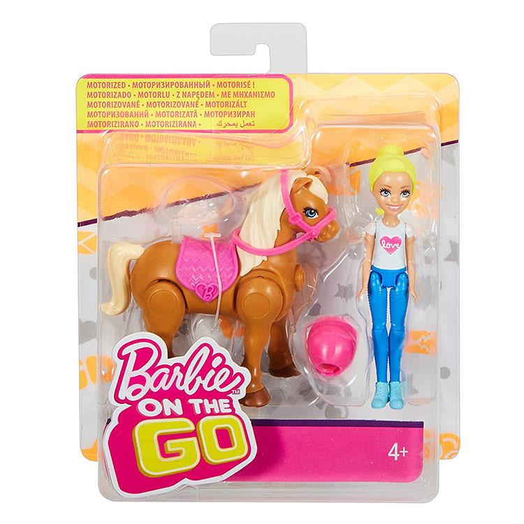 《 MATTEL - Barbie 》芭比帶著玩電動小馬